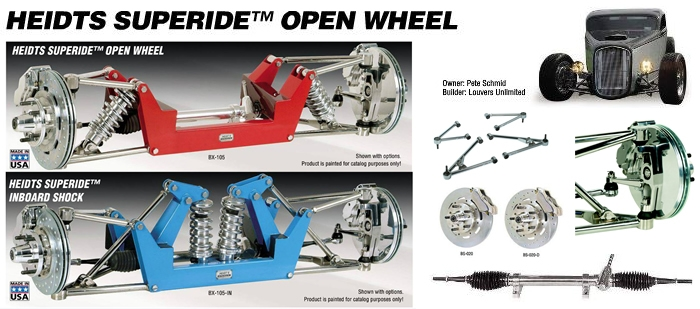 Heidt's Open Wheel Superide 32 Ford IFS Front Ends SHOP