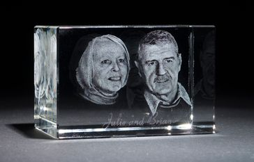 3d Portrait Crystal